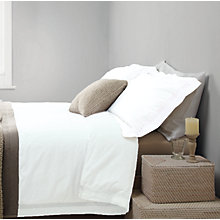 Buy John Lewis Croft Collection Wicklow Linen Border Bedding, Cream Online at johnlewis.com