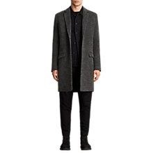 Buy AllSaints Abel Overcoat, Dark Grey Online at johnlewis.com