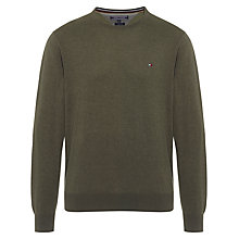 Buy Tommy Hilfiger Cotton Silk Crew Neck Jumper Online at johnlewis.com
