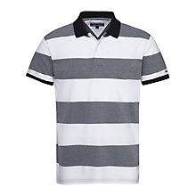 Buy Tommy Hilfiger Block Stripe Polo Shirt, Navy/White Online at johnlewis.com
