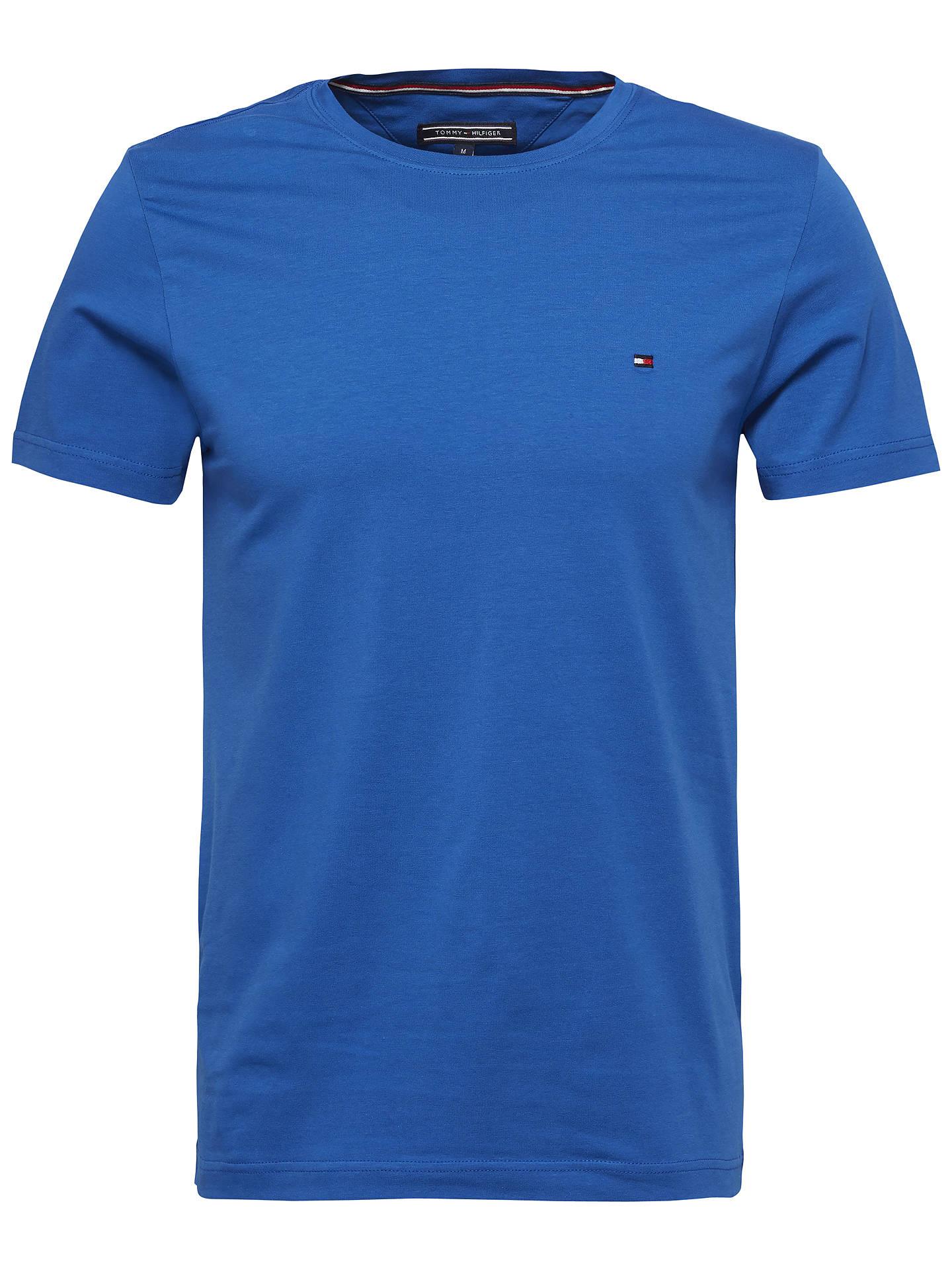 Tommy Hilfiger Mens Nautical Blue Cotton Linen Shirt