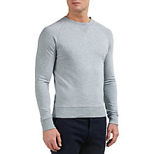 Buy Gant Rugger Organic Crew Neck Sweatshirt, Grey Melange Online at johnlewis.com