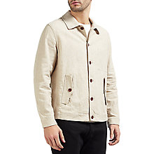 Buy Gant Rugger Linen-Cotton Coach Jacket, Dry Sand Online at johnlewis.com