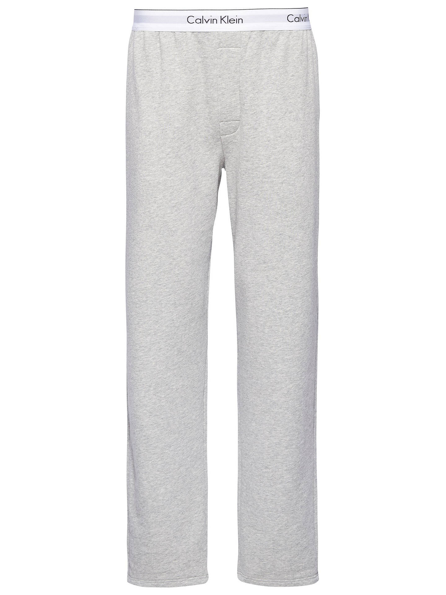8c3b6e68a14df Buy Calvin Klein CK Modern Cotton Lounge Pants, Grey, S Online at johnlewis.