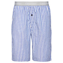 Buy Calvin Klein Bristol Stripe Lounge Shorts, Blue/Grey Online at johnlewis.com