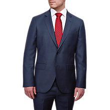 Buy Hackett London Italian Birdseye Super 120s Wool Suit Jacket, Blue Online at johnlewis.com