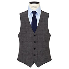 Buy John Lewis Wool Check Tailored Waistcoat, Charcoal Online at johnlewis.com