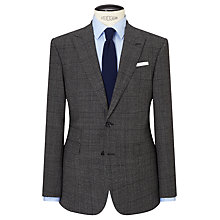 Buy John Lewis Wool Check Peak Lapel Tailored Suit Jacket, Charcoal Online at johnlewis.com