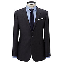 Buy John Lewis Ermenegildo Zegna Super 160s Wool Check Half Canvas Tailored Suit Jacket, Charcoal Online at johnlewis.com