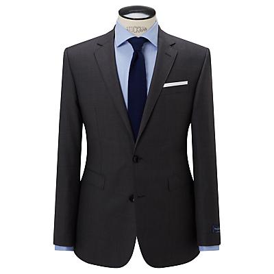 John Lewis Ermenegildo Zegna Super 160s Wool Semi Plain Half Canvas Tailored Suit Jacket, Grey