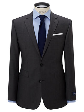 Buy John Lewis Ermenegildo Zegna Super 160s Wool Semi Plain Half Canvas Tailored Suit Jacket, Grey, 44R Online at johnlewis.com