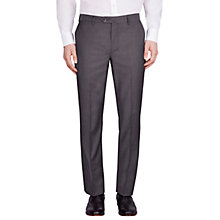 Buy Hackett London Italian Microweave Regular Fit Suit Trousers, Charcoal Online at johnlewis.com