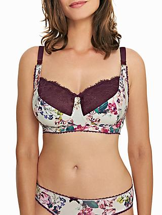 Royce Florence Maternity Bra, Aubergine/Off White
