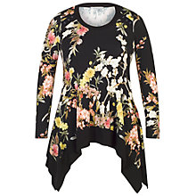 Buy Chesca Oriental Floral Tunic, Black Online at johnlewis.com