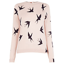 Buy Oasis Shadow Bird Knit, Pink Online at johnlewis.com