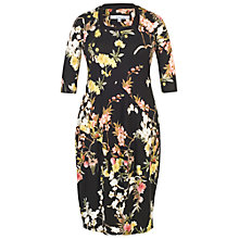 Buy Chesca Oriental Floral Dress, Black Online at johnlewis.com