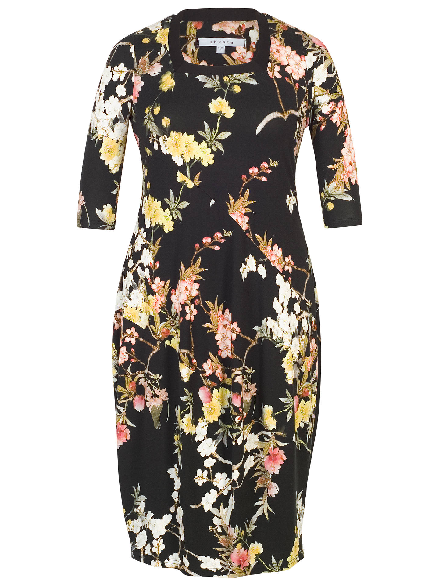 BuyChesca Oriental Floral Dress, Black, 12-14 Online at johnlewis.com