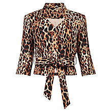 Buy Jolie Moi Leopard Print High Collar Blazer Online at johnlewis.com