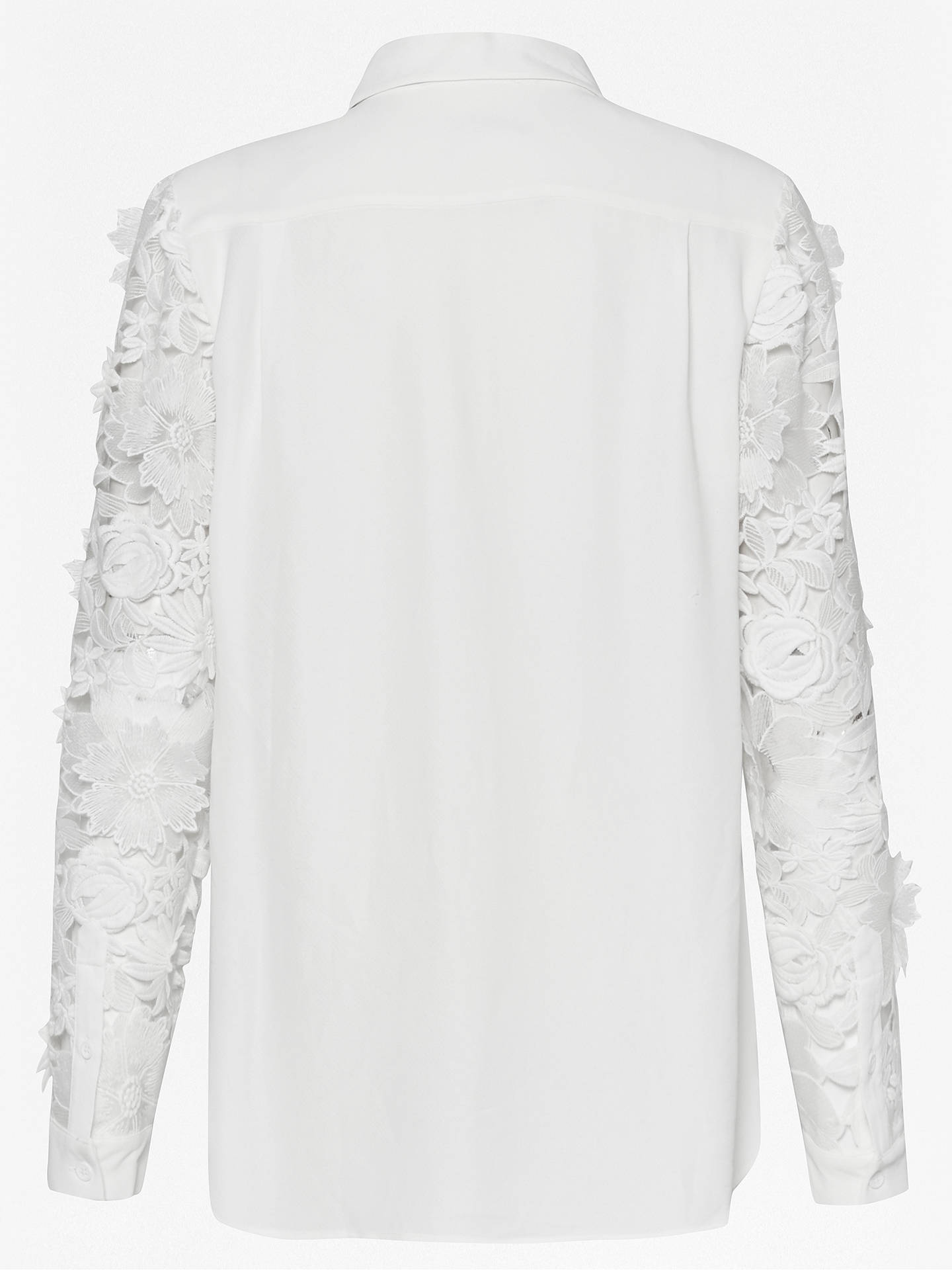 c2a1ce3bb5d87 ... Buy French Connection Manzoni Lace Long Sleeve Shirt, Summer White, 6  Online at johnlewis ...