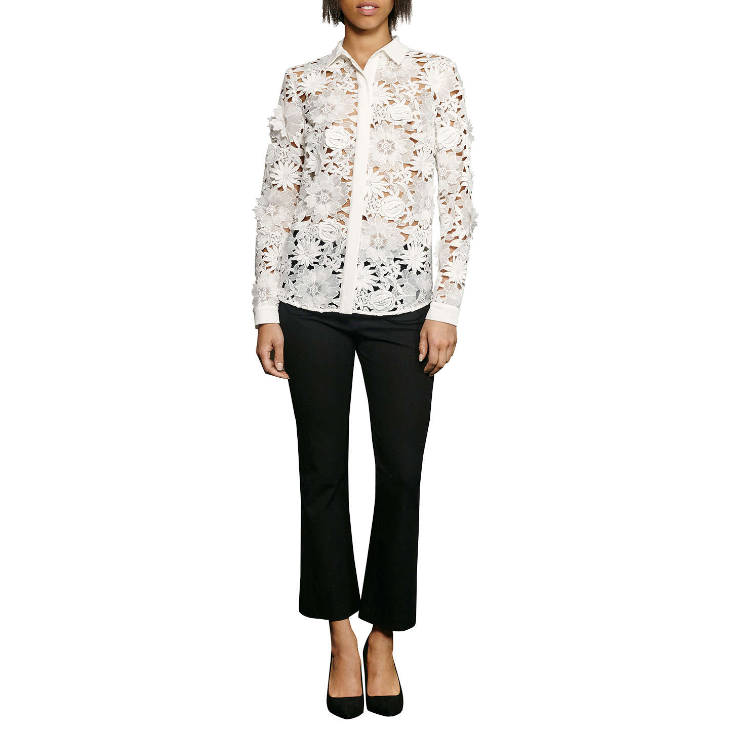 French connection manzoni lace long sleeve shirt summer for French cut shirt sleeve