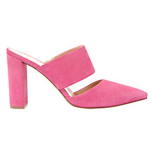 Buy Mint Velvet Lianna Mule Court Shoes, Pink Online at johnlewis.com