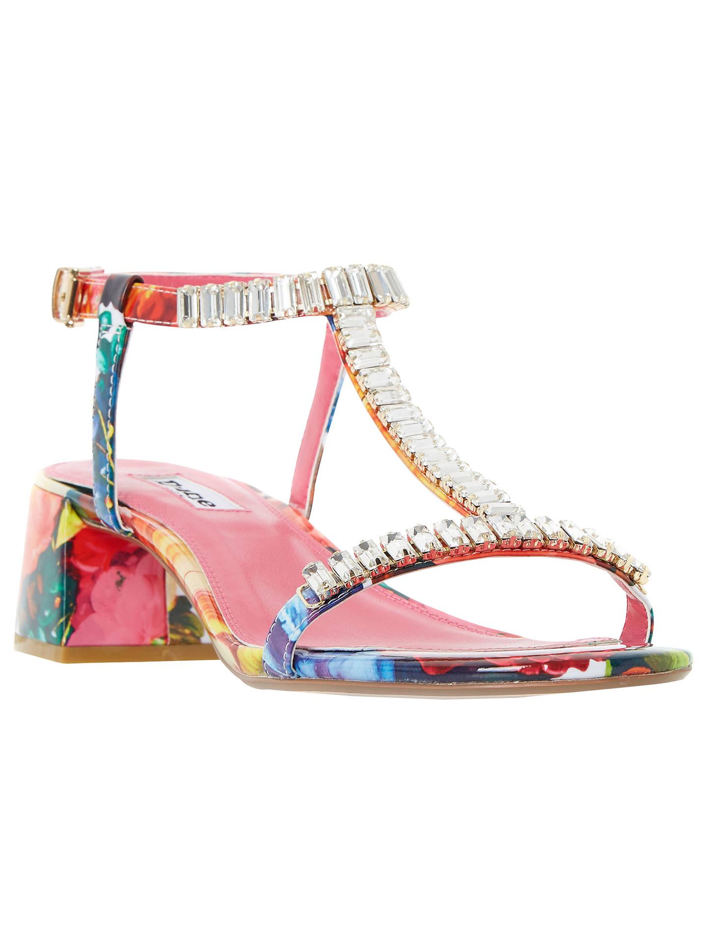 4bd3843974 Buy Dune Malie Embellished Block Heeled Sandals, Multi, 3 Online at  johnlewis.com ...