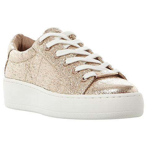 Buy Steve Madden Bertie C Lace Up Trainers, Rose Gold Online at johnlewis.