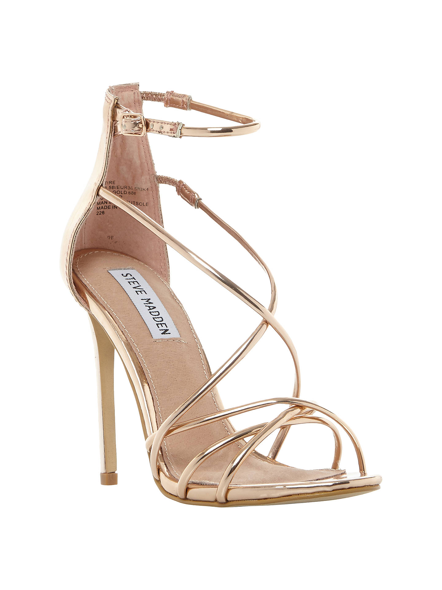 outlet for sale multiple colors pretty nice Steve Madden Satire Strappy Stiletto Heeled Sandals at John Lewis ...