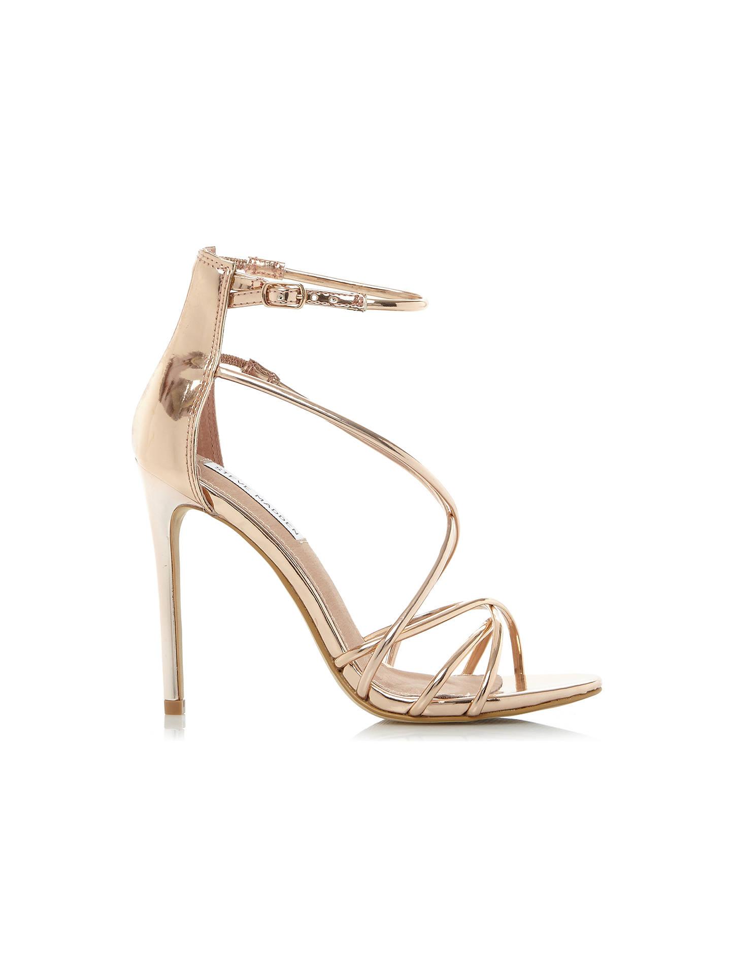 1b11431d0b3 Steve Madden Satire Strappy Stiletto Heeled Sandals at John Lewis ...