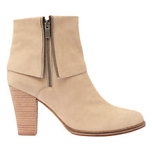 Buy Mint Velvet Aiyana Block Heeled Ankle Boots, Neutral Online at johnlewis.com