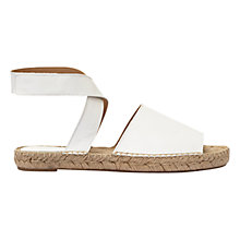 Buy Mint Velvet Sue Cross Strap Sandals, White Online at johnlewis.com