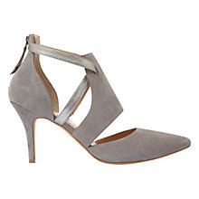 Buy Mint Velvet Faith Cut Out Court Shoes, Grey Online at johnlewis.com