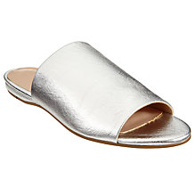 Buy John Lewis Sarita Mule Sandals, Silver Online at johnlewis.com