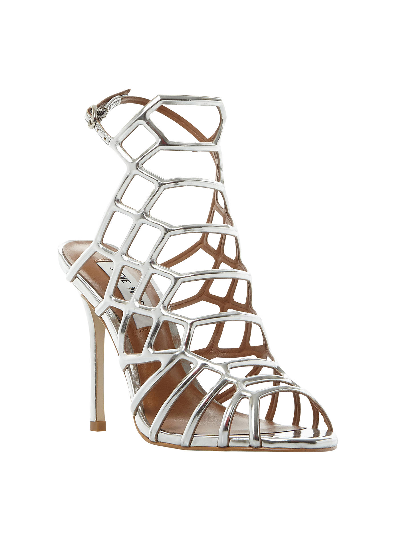 7efc3c82a85 Steve Madden Slithur High Heeled Cage Sandals at John Lewis   Partners