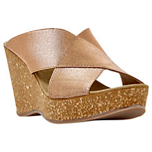 Buy Dune Kendle Cross Strap Wedge Heeled Sandals Online at johnlewis.com