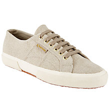 Buy Superga Cotu 2750 Cotu Knit Trainer Plimsolls, Natural Online at johnlewis.com
