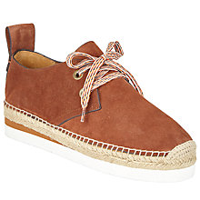 Buy See by Chloé Glyn Lace Up Espadrilles, Tan Online at johnlewis.com
