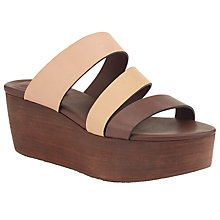Buy See by Chloé Sunset Mule Flatform Sandals, Brown Online at johnlewis.com