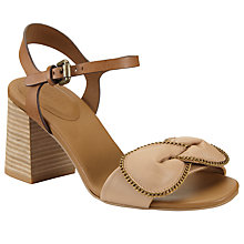 Buy See by Chloé Clara Bow Block Heeled Sandals, Pink Online at johnlewis.com