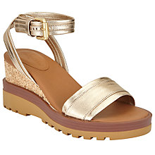 Buy See by Chloé Robin Wedge Heeled Sandals, Gold Online at johnlewis.com