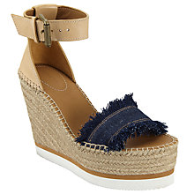 Buy See by Chloé Glyn Wedge Heeled Espadrille Sandals, Blue Online at johnlewis.com