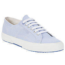 Buy Superga 2750 Cotu Classic Trainer Plimsolls, Blue/White Online at johnlewis.com