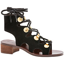 Buy See by Chloé Edina Lace Up Sandals, Black Online at johnlewis.com