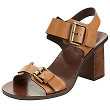 Buy See by Chloé Romy Block Heeled Buckle Sandals, Brown Online at johnlewis.com