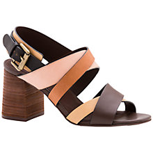 Buy See by Chloé Sunset Multi Strap Sandals, Brown/Multi Online at johnlewis.com