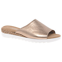 Buy Gabor Neon Wide Fit Sandals, Gold Online at johnlewis.com