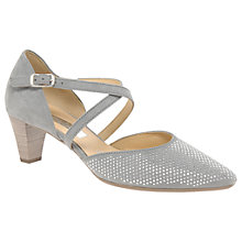 Buy Gabor Frederica Cross Strap Court Shoes, Stone Online at johnlewis.com