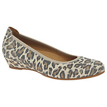 Buy Gabor Chester Wide Fit Wedge Heeled Pumps, Leopard Online at johnlewis.com