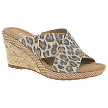 Buy Gabor Purpose Wide Fit Slip On Wedge Heeled Sandals Online at johnlewis.com