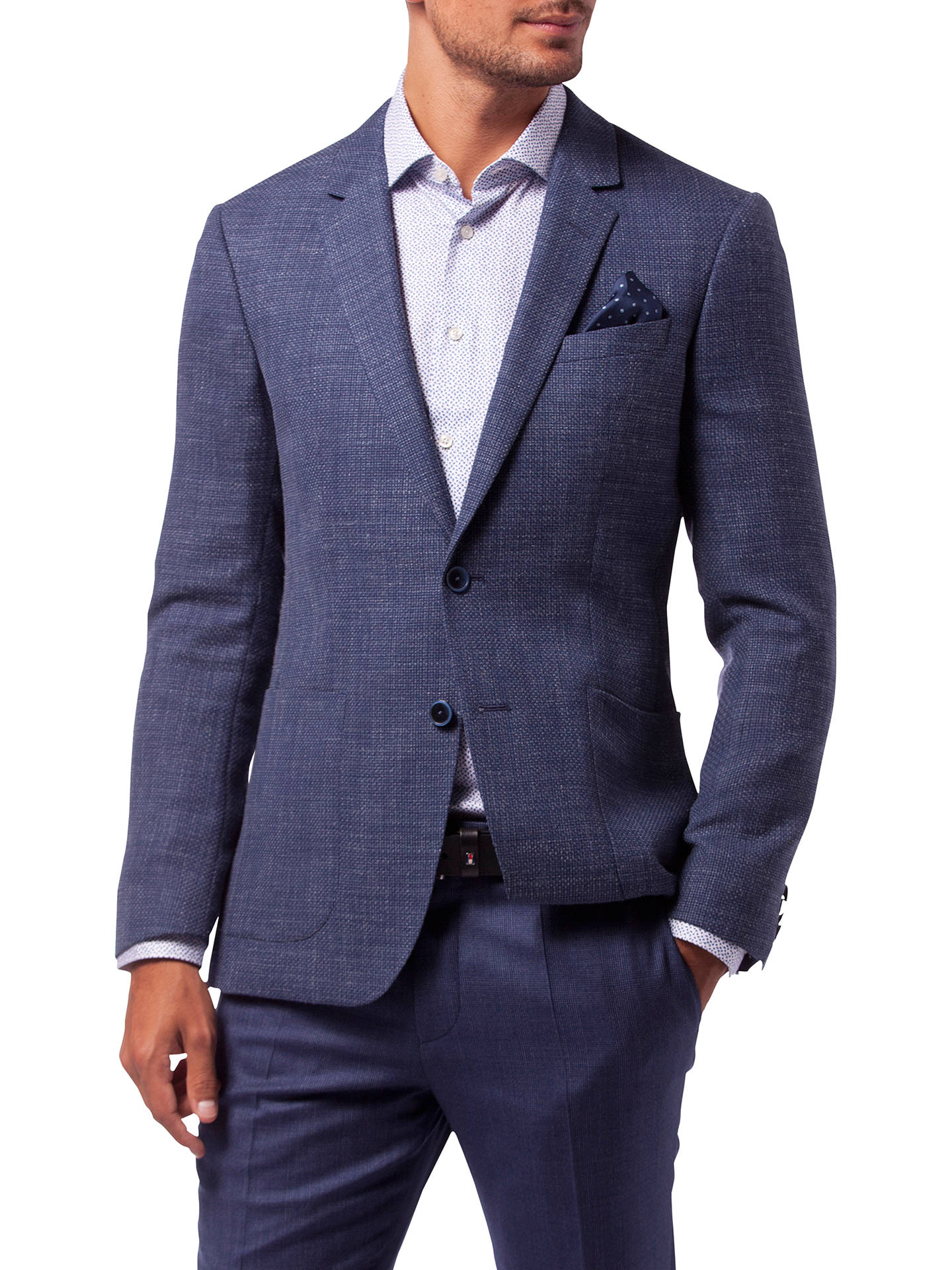 reliable quality amazing selection top quality Tommy Hilfiger Virgin Wool-Blend Slim Fit Blazer, Indigo at ...